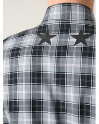 Givenchy - Gray Classic Plaid Shirt for Men - Lyst