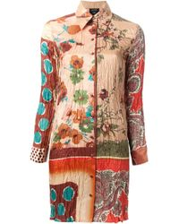 Jean Paul Gaultier | Multicolor Mixed Print Shirt Dress | Lyst