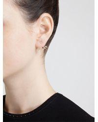 Yvonne Léon | Metallic Yvonne Léon Diamond Lobe Earring | Lyst