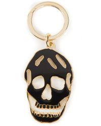 Alexander McQueen - Metallic Skull Keyring - Lyst
