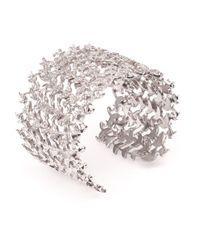 Joanna Laura Constantine - Metallic Crystal Leaf Cuff - Lyst
