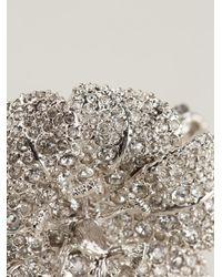 Alexander McQueen | Metallic Crystal Flower Bracelet | Lyst