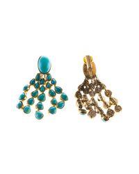 Aurelie Bidermann | Blue 'cherokee' Clip-on Earrings | Lyst