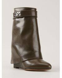 Givenchy - Green 'shark Tooth' Pant-leg Boots - Lyst