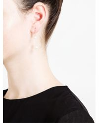 Asherali Knopfer | Metallic Pearl Bar Earring | Lyst