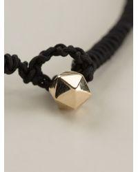 Luis Morais - Black Gold Detail Thin Bracelet for Men - Lyst