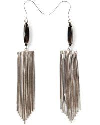 Iosselliani - Metallic 'metal Instinct' Fringed Earrings - Lyst