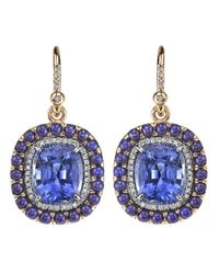 Irene Neuwirth | Blue Sapphire Lapis Earrings | Lyst