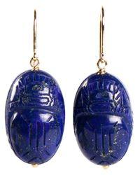 Aurelie Bidermann | Pink 'scarabs' Earrings | Lyst