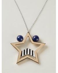 Uribe - Blue 'edie' Star Pendant Necklace - Lyst
