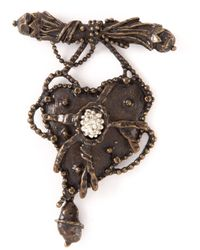 Christian Lacroix | Metallic Gun Heart Brooch | Lyst