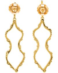 Kimberly Mcdonald - Metallic Irregular Diamond Outline Femme Earrings - Lyst