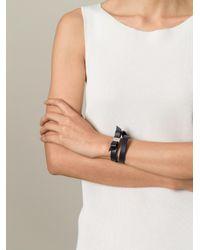 Ferragamo - Blue 'vara' Bow Bracelet - Lyst