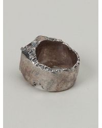 Tobias Wistisen - Metallic Carved Chevalier Ring for Men - Lyst