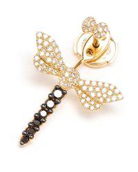 Yvonne Léon - Metallic Yvonne Léon Diamond Dragonfly Lobe Earring - Lyst