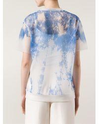 Alexander Wang - Blue Sheer T-shirt - Lyst