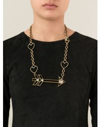 Lanvin - Metallic Arrow And Heart Necklace - Lyst