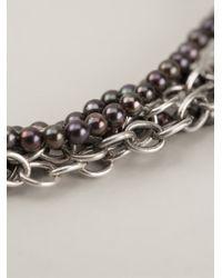 Henson - Black 'multi Strand' Bracelet - Lyst