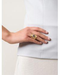 Ileana Makri | Metallic 'round Eye Shield' Ring | Lyst
