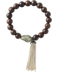 Loree Rodkin - Brown Diamond Beaded Bracelet - Lyst