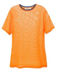 T By Alexander Wang | Orange Mesh T-shirt | Lyst