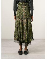 Comme des Garçons - Green Camouflage Polka Dot Skirt - Lyst