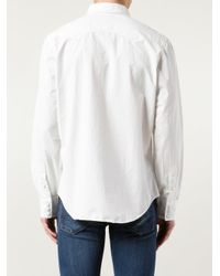 RRL - White Western Shirt for Men - Lyst