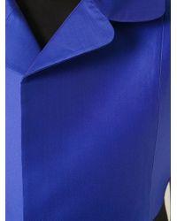 Carven - Blue Cropped Short Sleeve Jacket - Lyst