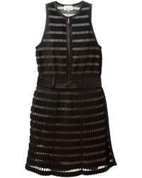 3.1 Phillip Lim | Black - Pleated Crepe Dress - Women - Silk/cotton/polyamide/wool - 8 | Lyst