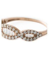 Joelle Jewellery | Metallic Joëlle Jewellery 'baquette' Slim Ring | Lyst