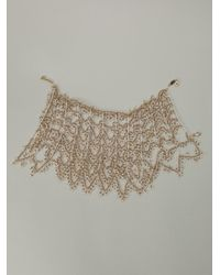 Rosantica | Metallic 'imperatrice' Scalloped Necklace | Lyst