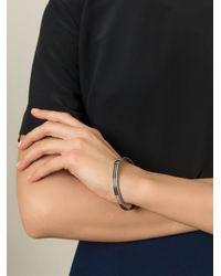 Saint Laurent - Black Knot Detail Bracelet - Lyst
