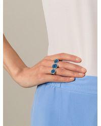 Ileana Makri | Blue 'triple Lucky Eye' Ring | Lyst