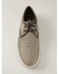 Dolce & Gabbana | Gray Woven Lace-up Shoes for Men | Lyst