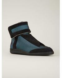 Maison Margiela - Blue Concealed Vamp Sneakers for Men - Lyst