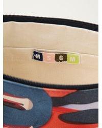 MSGM - Blue X Toilet Paper Magazine Shoe Print Clutch - Lyst