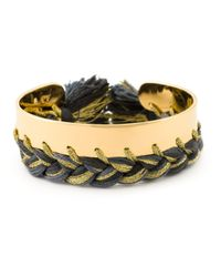 Aurelie Bidermann | Metallic Small 'copacabana' Cuff | Lyst