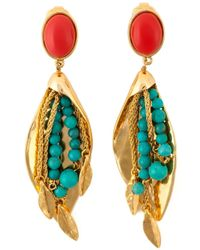Aurelie Bidermann | Metallic 'monteroso' Clip-on Earrings | Lyst