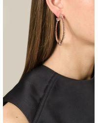 Aurelie Bidermann - Metallic 'palazzo' Hoop Earrings - Lyst