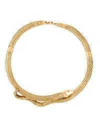 Aurelie Bidermann | Metallic 'tao' Snake Necklace | Lyst