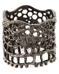 Aurelie Bidermann | Metallic 'vintage Lace' Ring | Lyst