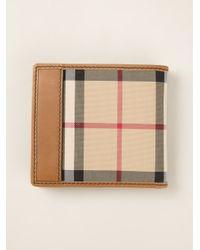 Burberry - Brown Haymarket Check Wallet for Men - Lyst