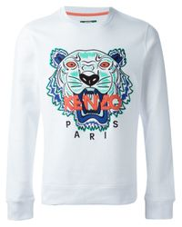 KENZO - White Tiger Sweatshirt for Men - Lyst