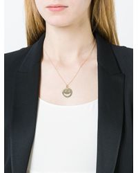 Alison Lou - Metallic Diamond Smiley Face Pendant Necklace - Lyst