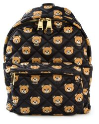 Moschino | Black Quilted Teddy Bear Backpack | Lyst