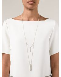1-100   Metallic '79' Necklace   Lyst