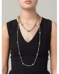 Lara Bohinc - Metallic 'knot' Necklace - Lyst