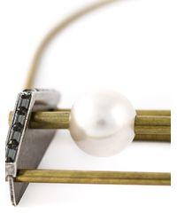 Lanvin - Metallic Pearl Detail Necklace - Lyst