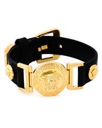 Versace | Black Medusa Bracelet for Men | Lyst