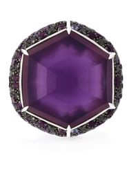 Stephen Webster   Metallic Sapphire Diamond Cocktail Ring   Lyst